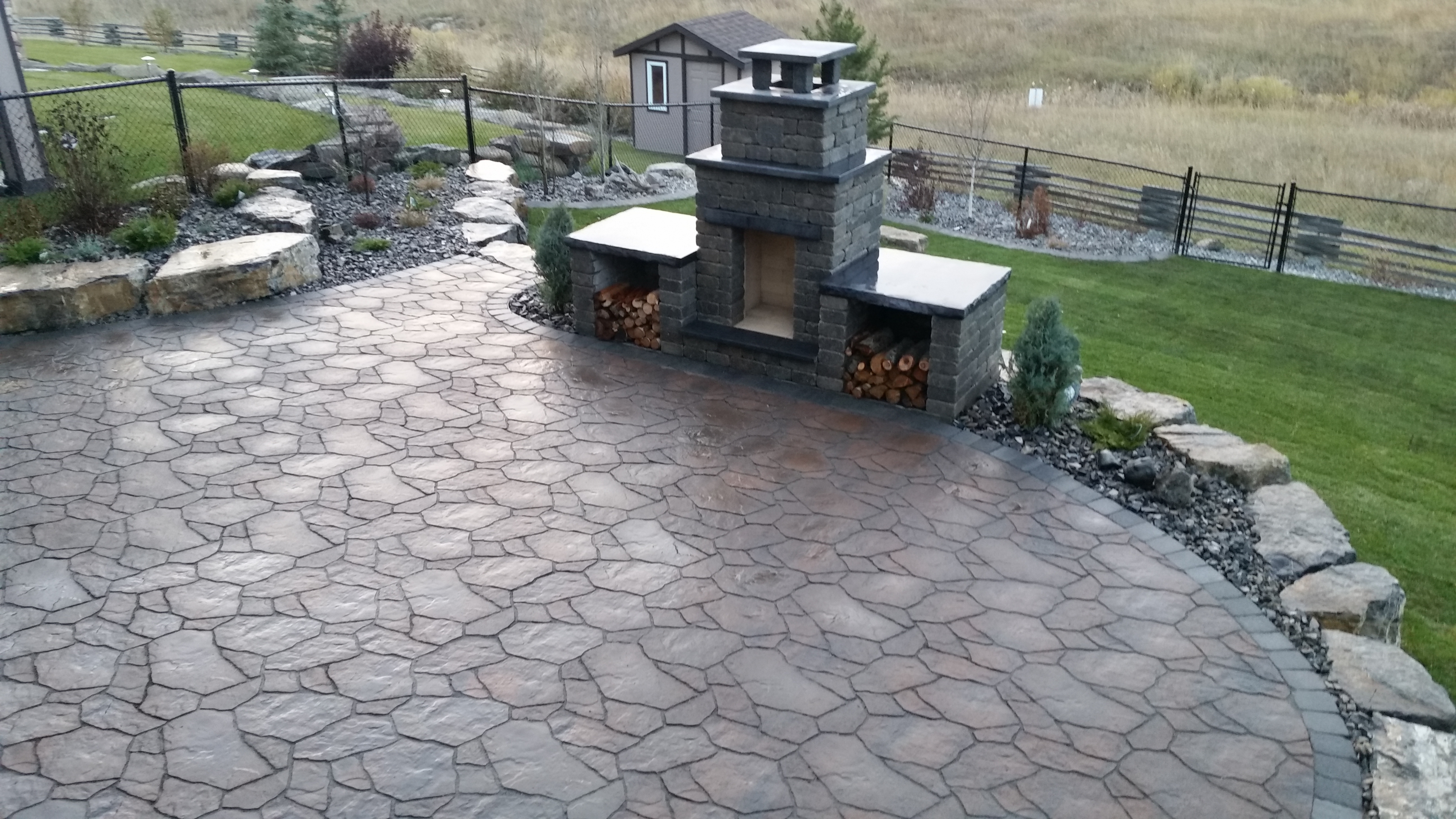 Green shield construction and landscaping for Landscape construction services